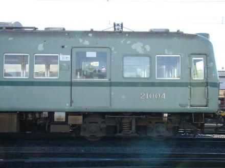 大井川鐵道・元南海21000系 (新金谷駅付近)