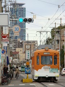 阪堺電軌モ501形(姫松駅付近)