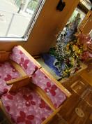 今回の披露会のスポンサー「伊藤園」から贈られた花束。