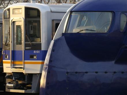 南海8000系&50000系ラピート(住ノ江駅から)