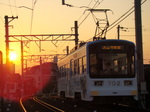 阪堺電軌モ701形(神ノ木駅から)