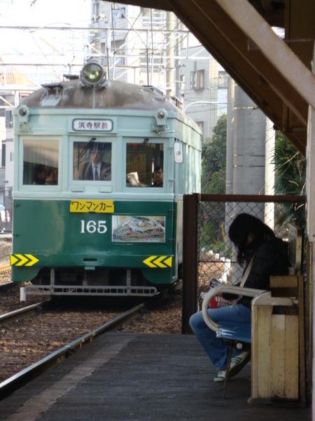 阪堺電軌モ161形 (天神ノ森駅)
