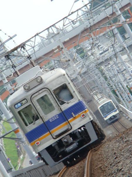 南海6300系 & 泉北高速5000系 (栂・美木多駅から)