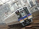 南海8000系 (萩ノ茶屋駅から)