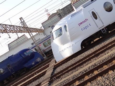 南海50000系ラピート & ラピート 「ハッピーライナー」 (住ノ江駅から)