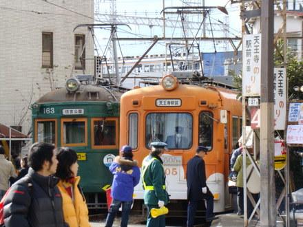 南海7000系&阪堺電軌モ161形&モ501形(住吉交差点)