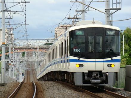 泉北高速7000系(栂・美木多駅から)