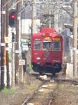 2270系おもちゃ電車(交通センター前駅から、ズームを最大倍率にして撮影)