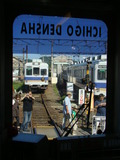 いちご電車の車内から見た2270系(伊太祁曽駅)