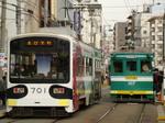 モ701形&モ161形(住吉鳥居前駅)