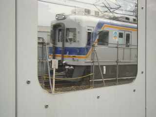 7100系(工事用の防音壁の窓から)
