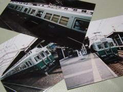 インスタントカメラで撮影した南海7000系・復刻塗装車 ('06.6)