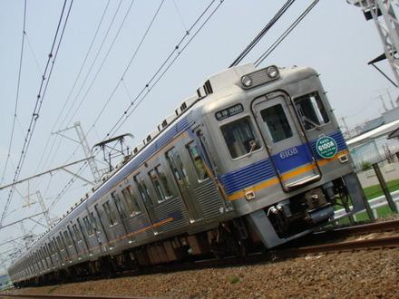 6100系(萩原天神7号踏切から)