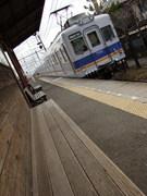 7100系・ワンマン改造車 (東松江駅)