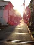 高須神社3号踏切でのひとコマ。