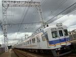 7100系(北助松駅・上りホームから)