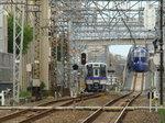 8000系&50000系ラピート(北助松駅・上りホームから)