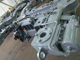 車輪やモーターが取り付けられる前の台車枠。