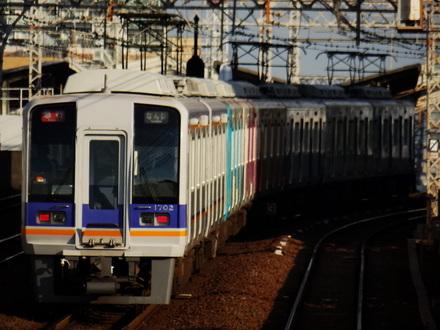 1000系 (萩ノ茶屋駅から)